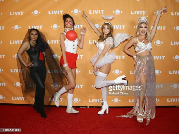 Arrem Yanez Kristen Kash Sasha Remy and Camille Arnold attend Trip 'R' Treat with LIVIT LA's Largest Live Streaming Competition on October 30 2019 in...