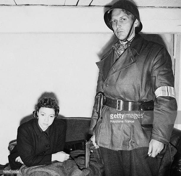 Arrest Of A Norwegian Woman Working For Gestapo In Oslo On May 1945