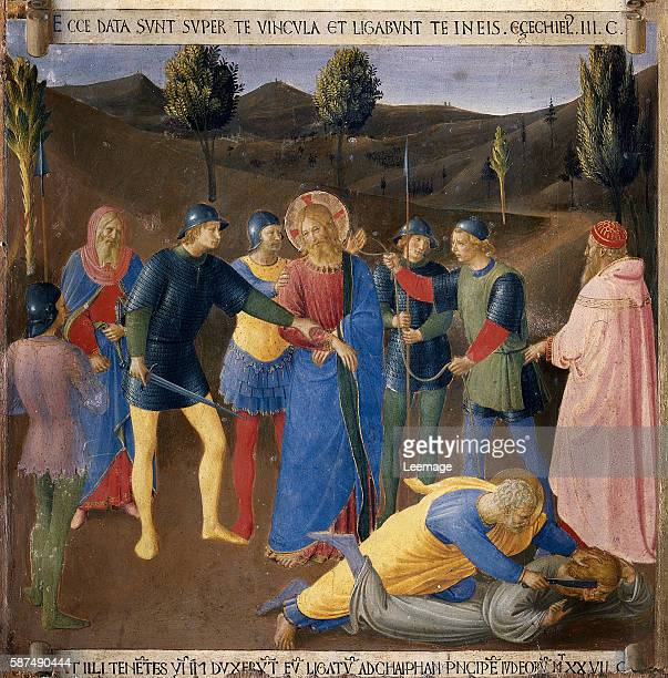 Arrest of Christ From Scenes From the Life of Christ by Fra Angelico - Tempera on wood panel - Creation date: ca. 1450 - Located in: Museo di San...