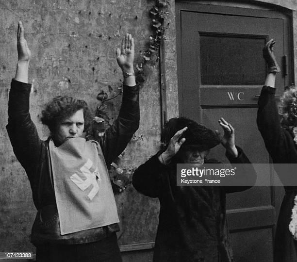 Arrest Of Danish Collaborationist Women In Copenhagen On May 1945