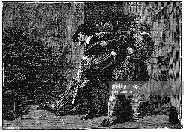 Arrest of Guy Fawkes in cellars of Parliament, 1605 . Gunpowder Plot, Roman Catholic conspiracy to blow up English Houses of Parliament on 5 November...