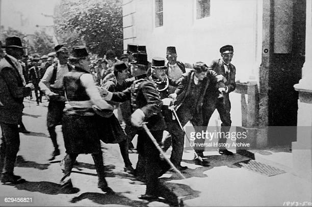 Arrest of the First BombThrower Nedeljko Cabrinovic in the Assassination of Archduke Franz Ferdinand and his Wife Sarajevo Bosnia June 28 1914
