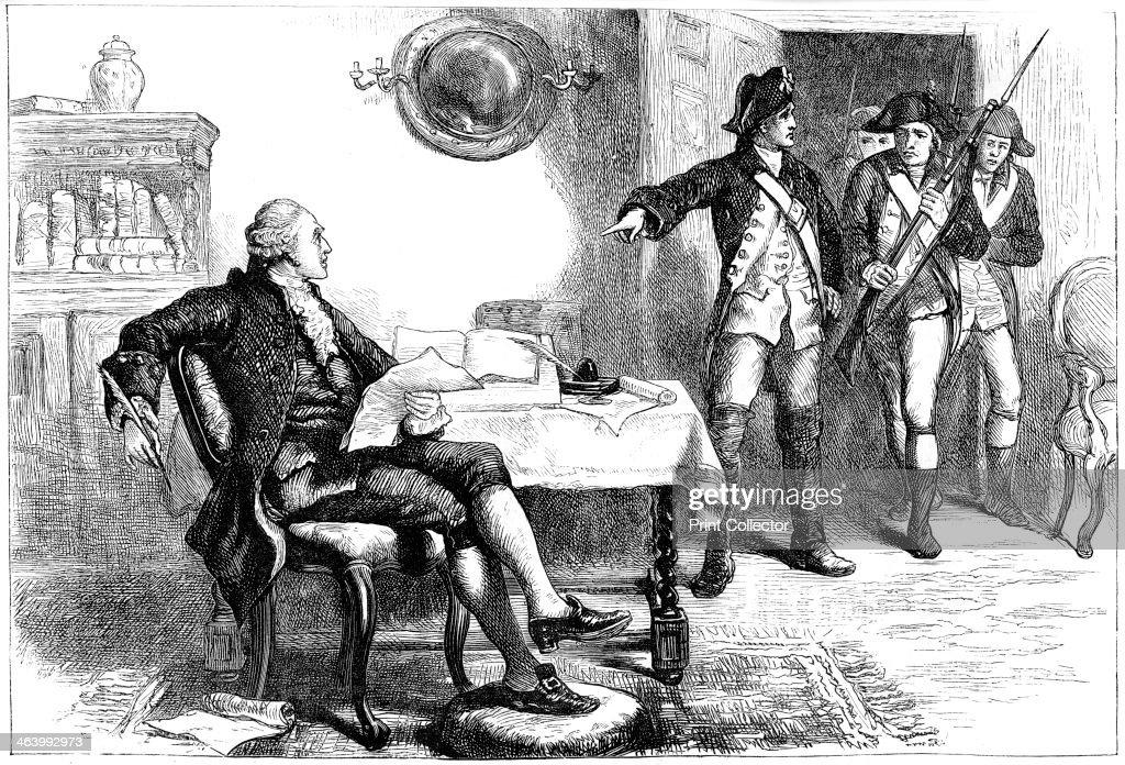 Arrest of William Franklin, New Jersey, 1776 (c1880). : Fotografía de noticias