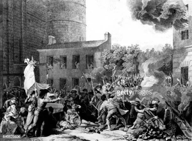 Arrestation du marquis de Launay le gouverneur de la Bastille lors de la prise de la Bastille le 14 juillet 1789 à Paris France