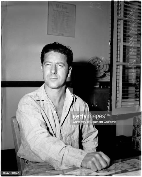 Arrested as 'Peeping Tom' 27 May 1958 Ralph Neil Davis 40 years Caption slip reads 'Photographer Gaze Date Reporter Gaze Assignment Ralph Davis...
