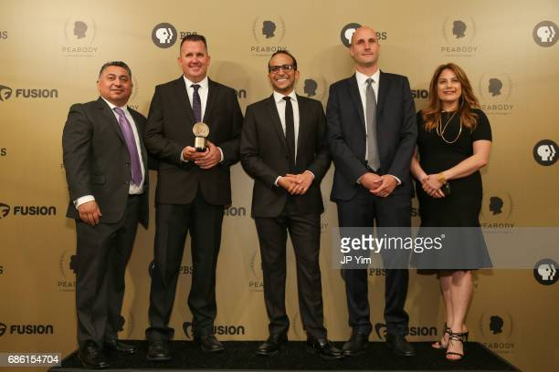 Arrested At School producers Mark Villarreal Michael Horn Bigad Shaban Michael Bott and Stephanie Adrouny pose with an award during The 76th Annual...