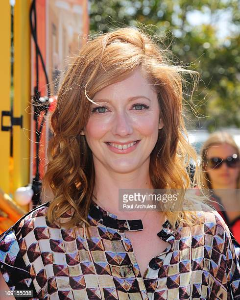 """Arrested Development's"""" Judy Greer appears at Bluth's Original Frozen Banana Stand on May 20, 2013 in Culver City, California."""