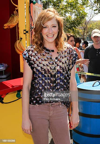 Arrested Development's Judy Greer appears at Bluth's Original Frozen Banana Stand on May 20 2013 in Culver City California