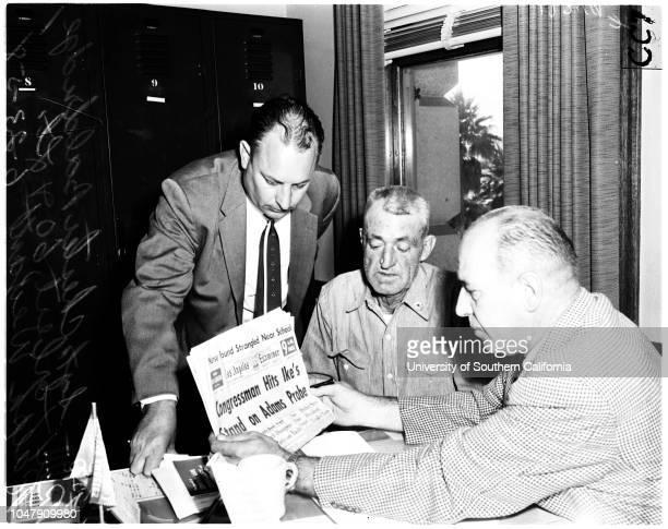 Arrested for making false report on Trujillo's yacht bombing 23 June 1958 Rex Torbert 60 years Sargent Chester BaldridgeLieutenant Ralph...