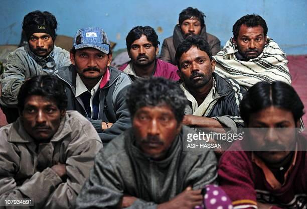 Arrested Indian Fishermen Sit In A Pakistani Police Station Karachi On January 8 2011 Pakistan