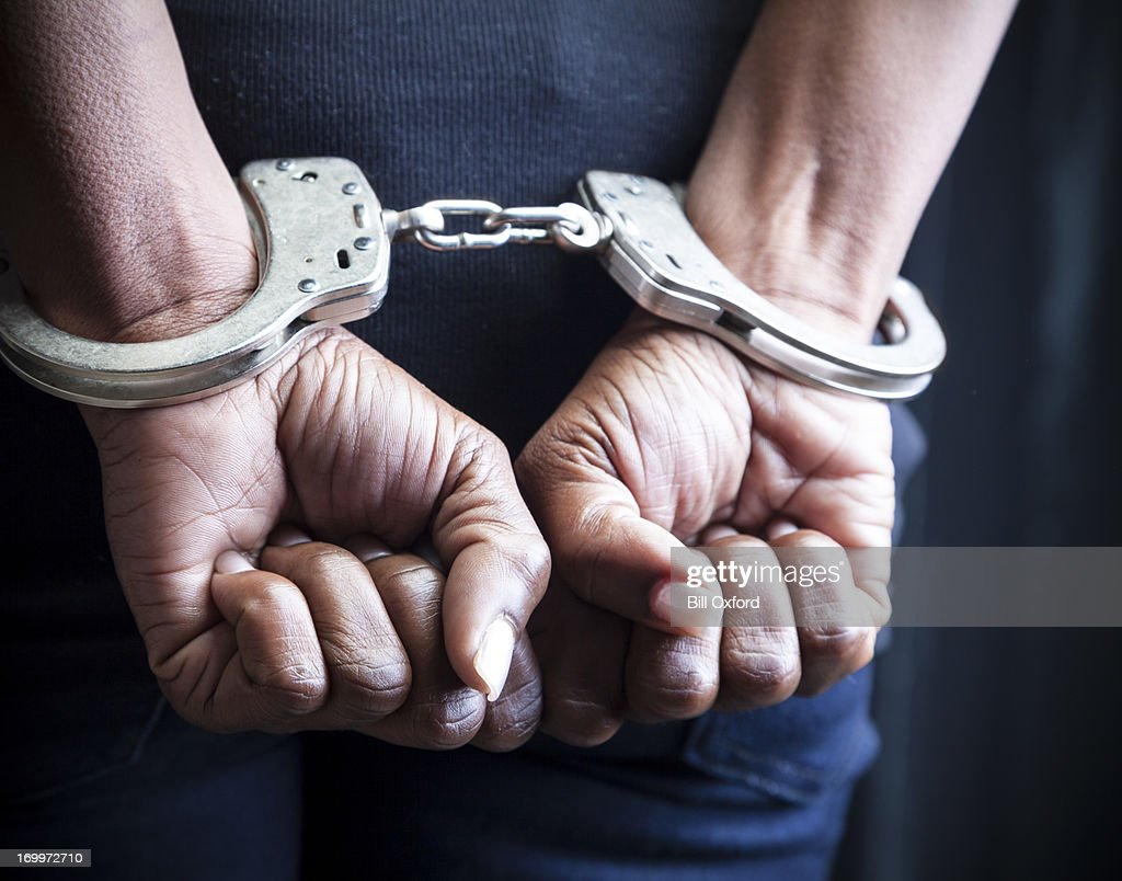 Arrested : Stock Photo