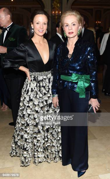 Arriana Boardman and Carolina Herrera attend the 21st Annual Bergh Ball hosted by the ASPCA at The Plaza Hotel on April 19 2018 in New York City