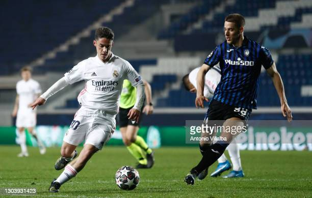 Arribas from Real Madrid CF during the UEFA Champions League Round of 16 match between Atalanta and Real Madrid at Gewiss Stadium on February 24,...