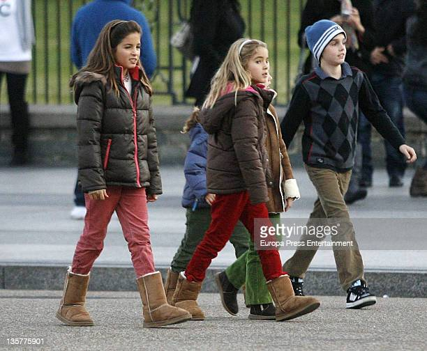 Arrieta Morales Ana Maria Morales and Juan Pablo Urdangarin are seen going for walk at White House on December 3 2011 in Washington DC