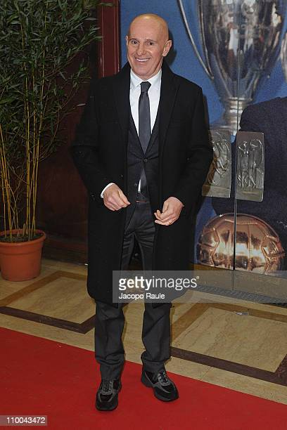 Arrigo Sacchi attends AC Milan Marks 25th Anniversary Of Berlusconi's Presidency Party Arrivals at Teatro Manzoni on March 13 2011 in Milan Italy