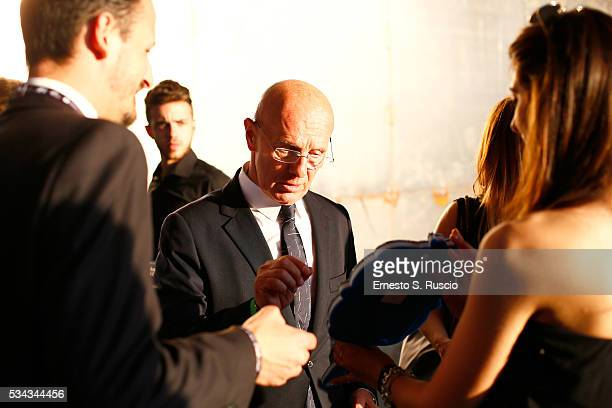 Arrigo Sacchi attends Bocelli and Zanetti Night on May 25 2016 in Rho Italy