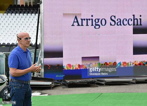Arrigo Sacchi attends during the Italian Football Federation Kick Off seminar on June 20 2015 in Cesena Italy