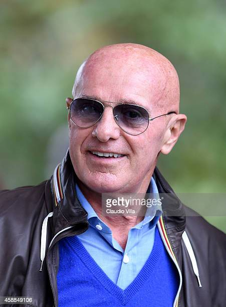 Arrigo Sacchi attends Italy Training Session at Coverciano on November 12 2014 in Florence Italy