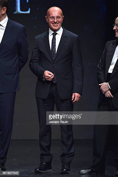 Arrigo Sacchi attends the 'Gazzetta Awards' on December 17 2015 in Milan Italy