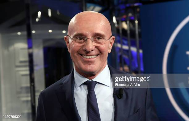Arrigo Sacchi attends the Porta a Porta tv talk at Rai Studios on May 21 2019 in Rome Italy