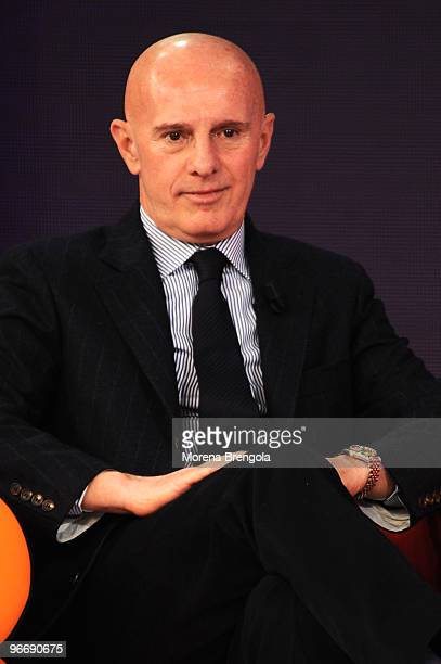 Arrigo Sacchi during Quelli che il calcio Italian tv show on February 14 2010 in Milan Italy