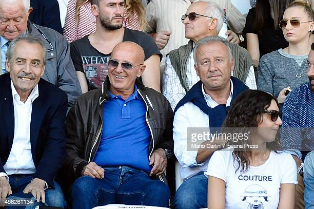 Arrigo Sacchi forme head coach of Italian National Team alberto Zaccheroni former head coach of AC Milan attend the Serie A match between AC Cesena...