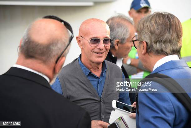Arrigo Sacchi former coach of Italian National team attends the Serie A match between Spal and SSC Napoli at Stadio Paolo Mazza on September 23 2017...