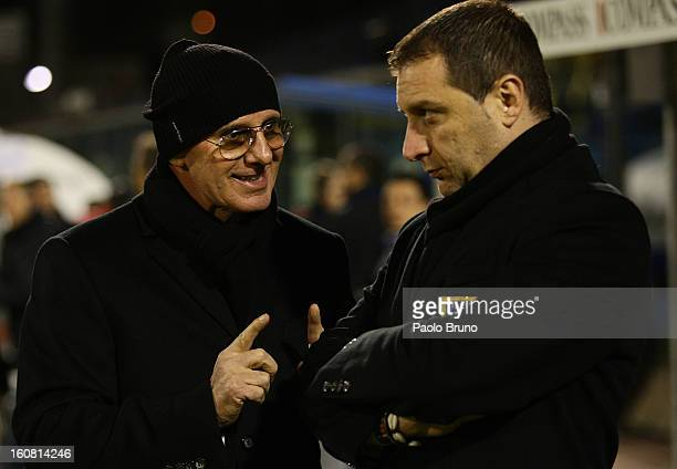 Arrigo Sacchi speacks with Italy head coach Devis Mangia during Under 21 International Friendly match between Italy and Germany at Stadio Degli Ulivi...