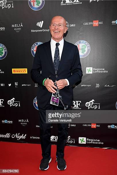 Arrigo Sacchi walks the red carpet of Bocelli and Zanetti Night on May 25 2016 in Rho Italy