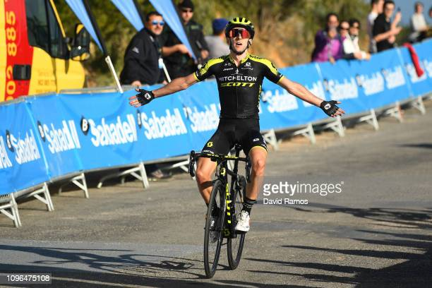 Arrival / Adam Yates of Great Britain and Team Mitchelton Scott / Celebration / during the 70th Volta a la Comunitat Valenciana 2019 Stage 4 a 188km...