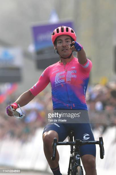 Arrival / Alberto Bettiol of Italy and Team Ef Education First / Celebration / during the 103rd Tour of Flanders 2019 Ronde van Vlaanderen a 2701km...
