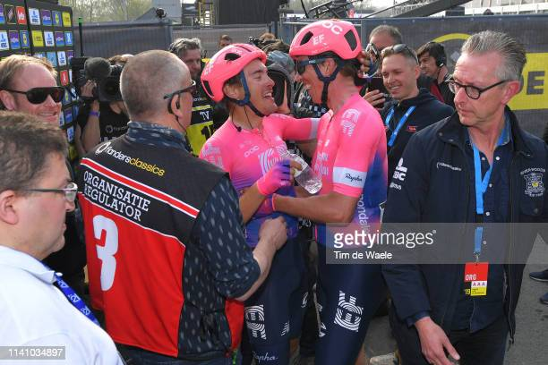 Arrival / Alberto Bettiol of Italy and Team Ef Education First / Sep Vanmarcke of Belgium and Team Ef Education First / during the 103rd Tour of...