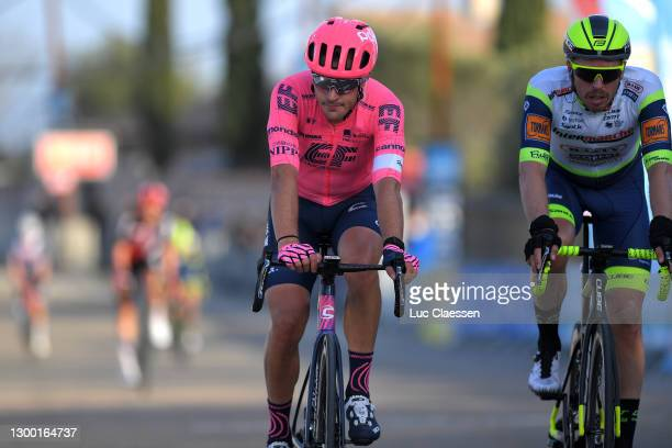 Arrival / Alberto Bettiol of Italy and Team Ef Education - Nippo & Boy Van Poppel of Netherlands and Team Intermarché - Wanty - Gobert Matériaux...