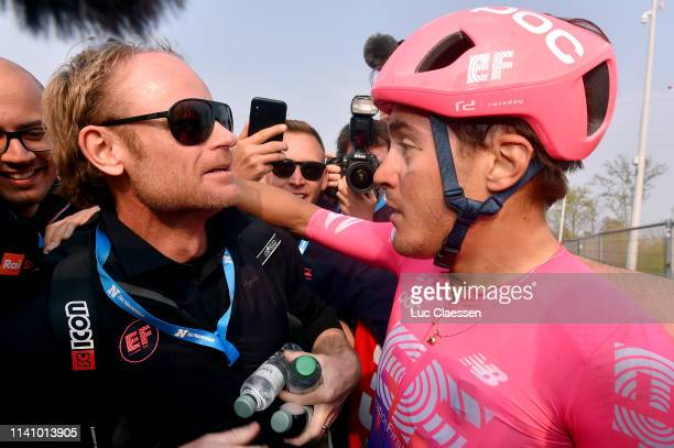 Arrival / Alberto Bettiol of Italy and Team EF2 Education First / Celebration / during the 103rd Tour of Flanders 2019 Ronde van Vlaanderen a 2701km...