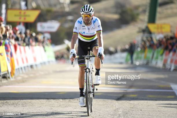 Arrival / Alejandro Valverde Belmonte of Spain and Movistar /during the 99th Volta Ciclista a Catalunya 2019, Stage 4 a 150,3km stage from Llanars -...