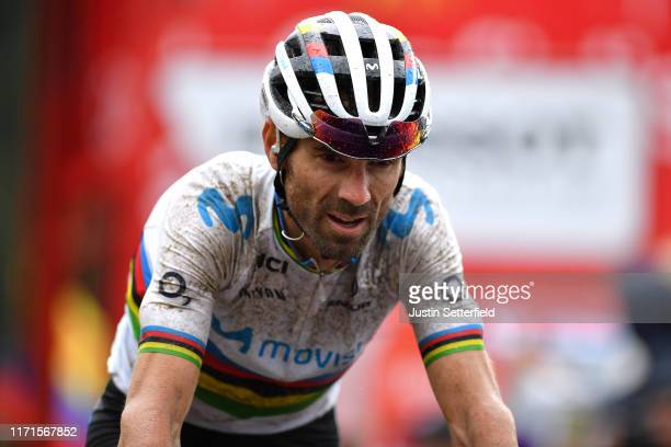 Arrival / Alejandro Valverde Belmonte of Spain and Movistar Team / during the 74th Tour of Spain 2019, Stage 9 a 94,4km stage from Andorra la Vella...