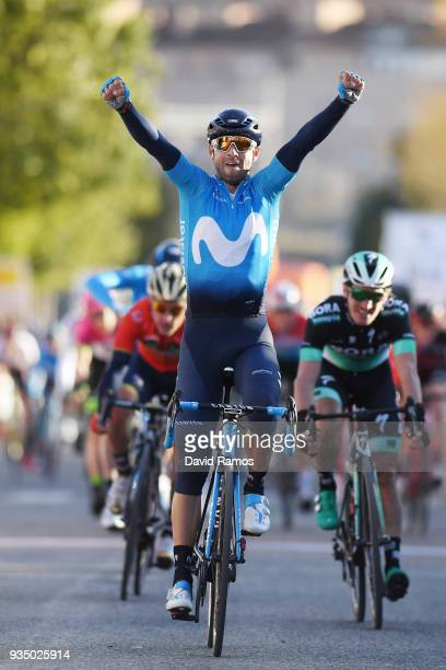 Arrival / Alejandro Valverde Belmonte of Spain and Team Movistar / Celebration / during the 98th Volta Ciclista a Catalunya 2018 Stage 2 a 1756km...