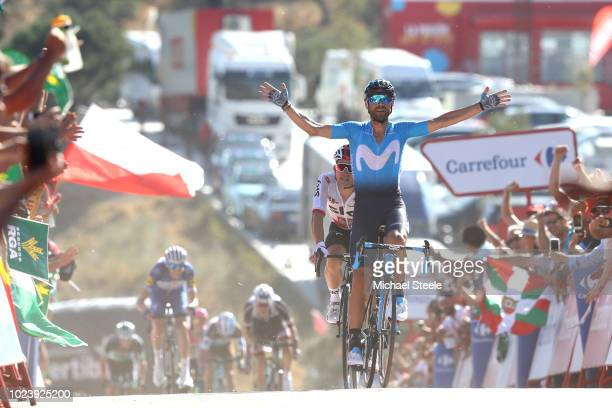 Arrival / Alejandro Valverde of Spain and Movistar Team / Celebration / during the 73rd Tour of Spain 2018 Stage 2 a 1635km stage from Marbella to...