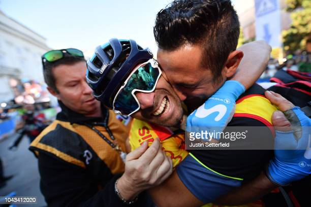 Arrival / Alejandro Valverde of Spain / Celebration / during the Men Elite Road Race a 2585km race from Kufstein to Innsbruck 582m at the 91st UCI...