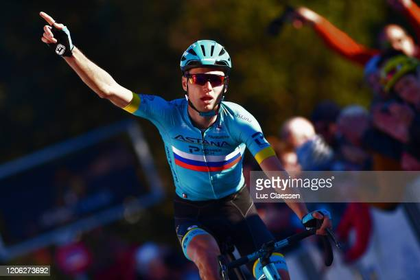 Arrival / Aleksandr Vlasov of Russia and Team Astana Pro Team / Celebration / during the 5th Tour de La Provence 2020, Stage 2 a 174,9km stage from...