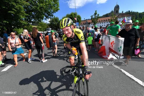 Arrival / Alexander Edmondson of Australia and Team Mitchelton Scott / Refreshment / Public / during the 83rd Tour of Switzerland Stage 5 a 177km...