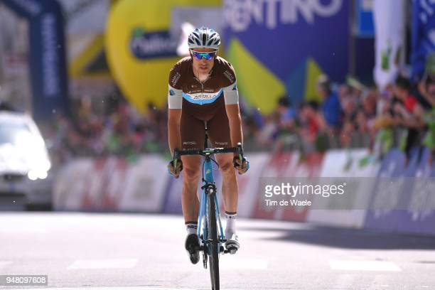 Arrival / Alexandre Geniez of France and Team AG2R La Mondiale / during the 42nd Tour of the Alps 2018 Stage 3 a 1383km stage from OraAuer to Merano...
