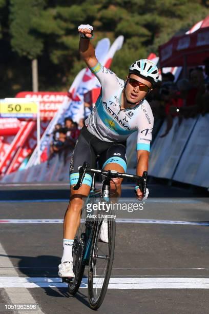 Arrival / Alexey Lutsenko of Kazahkstan and Astana Pro Team / Celebration / during the 54th Presidential Cycling Tour Of Turkey, Stage 4 a 205,5km...
