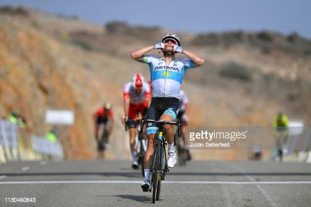 Arrival / Alexey Lutsenko of Kazahkstan and Astana Pro Team / Celebration / Jesus Herrada of Spain and Team Cofidis / during the 10th Tour of Oman...