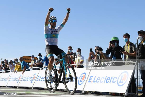 Arrival / Alexey Lutsenko of Kazahkstan and Astana Pro Team / Celebration / during the 107th Tour de France 2020, Stage 6 a 191km stage from Le Teil...