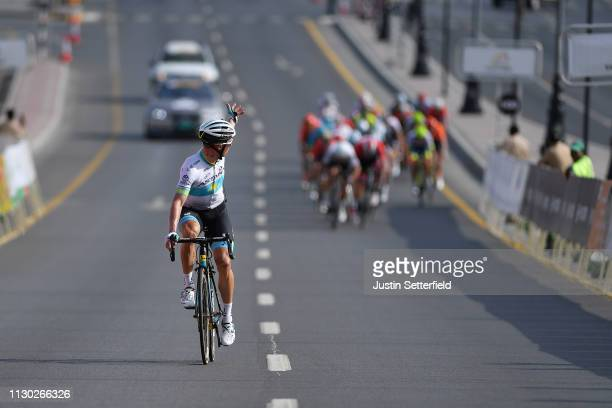 Arrival / Alexey Lutsenko of Kazahkstan and Astana Pro Team / during the 10th Tour of Oman 2019, Stage 2 a 156,5km stage from Royal Cavalry Oman to...