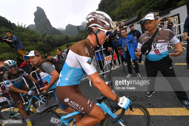 Arrival / Alexis Vuillermoz of France and Team Ag2R La Mondiale / Soigneur / during the 2nd Tour of Guangxi 2018 Stage 4 a 1522km stage from Nanning...