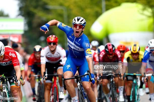Arrival / Alvaro Jose Hodeg Chagui of Colombia and Team Deceuninck-QuickStep / Celebration / Sam Bennett of Ireland and Team Bora-Hansgrohe Red...
