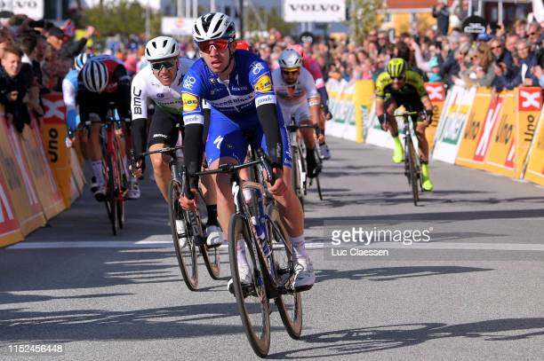 Arrival / Alvaro Jose Hodeg Chagui of Colombia and Team Deceuninck - Quick-Step / Celebration / Edvald Boasson Hagen of Norway and Team Dimension...