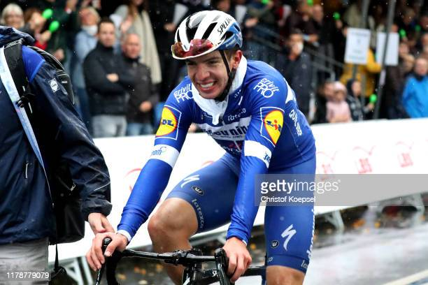 Arrival / Alvaro Jose Hodeg Chagui of Colombia and Team Deceuninck - Quick-Step / Celebration / during the 14th Sparkassen Münsterland Giro 2019 a...
